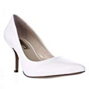 INC International Zitah Pumps Bright White Leather